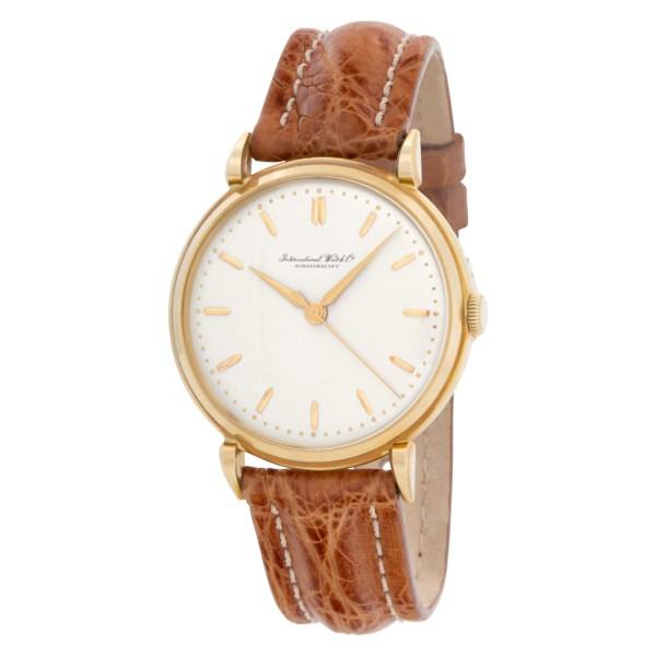 IWC Schaffhausen 18k Yellow Gold Silver dial 36mm Manual watch