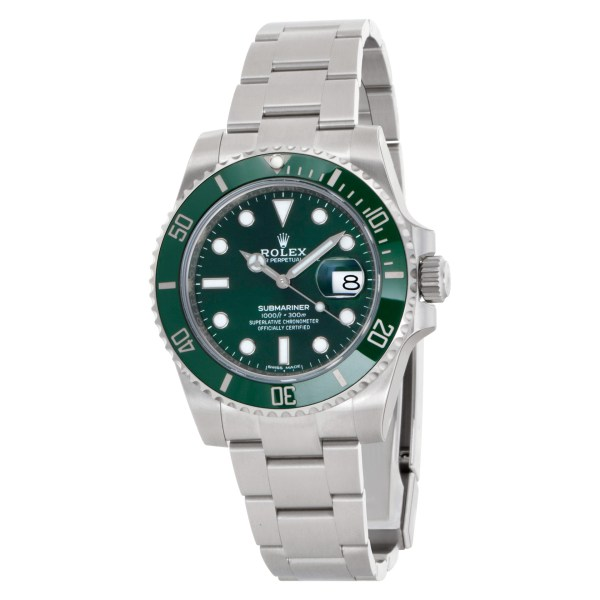 """Rolex Submariner """"Hulk"""" 116610LV Stainless Steel Green dial 40mm Automatic watch"""