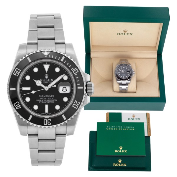 Rolex Submariner 116610LN Stainless Steel Black dial 40mm Automatic watch