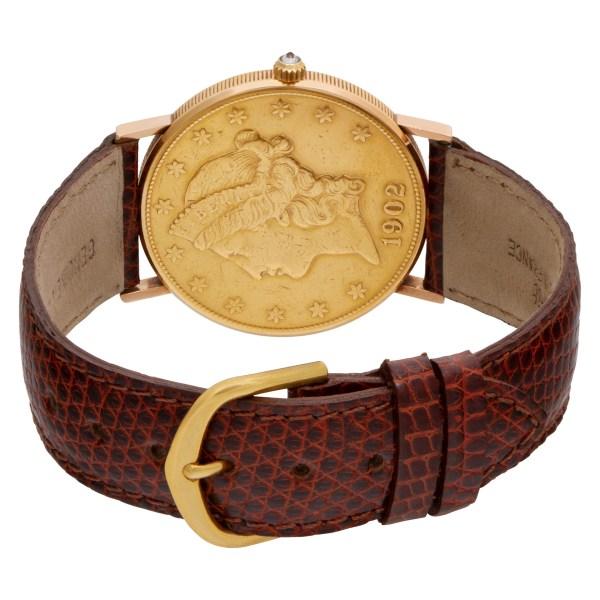 Corum $20 Coin 1896 18k 35mm Quartz watch