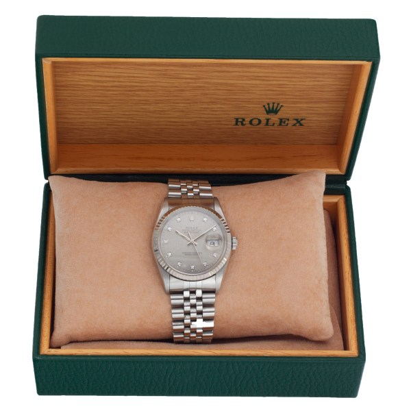 Rolex Datejust 16234 Stainless Steel factory diamond dial 36mm Automatic watch