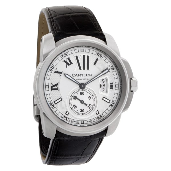 Cartier Calibre W7100041 Stainless Steel Silver dial 42mm Automatic watch