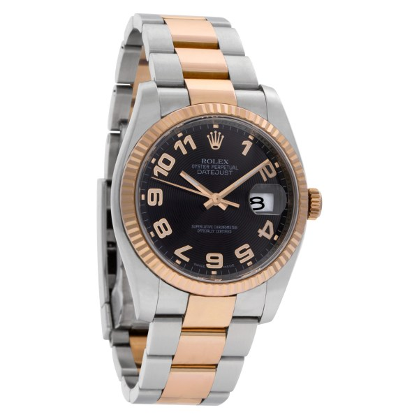 Rolex Datejust 116231 18k everose & stainless steel Black dial 36mm Auto watch