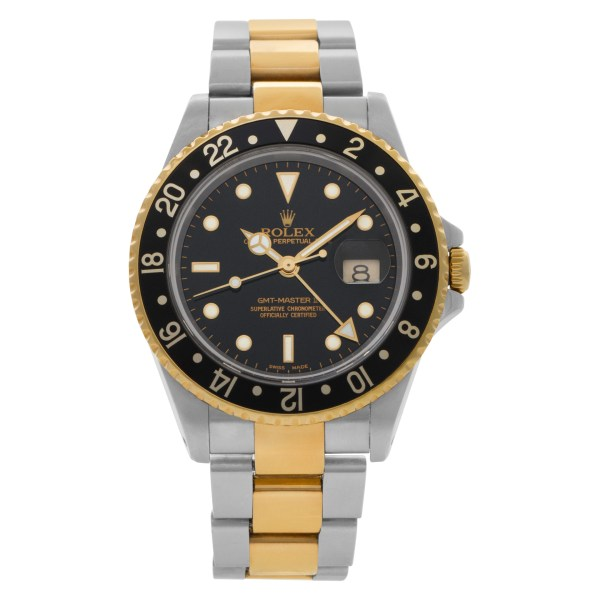 Rolex GMT-Master 16713 18k & Stainless Steel Black dial 40mm Automatic watch