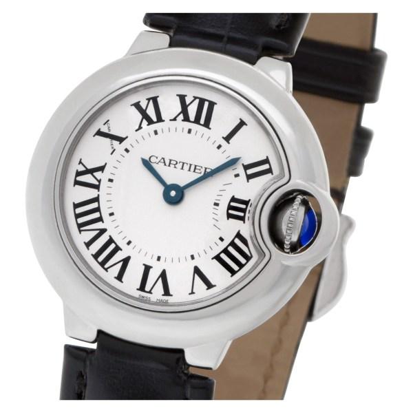 Cartier Ballon Bleu W69010Z4 Stainless Steel    White dial 28mm Quartz watch