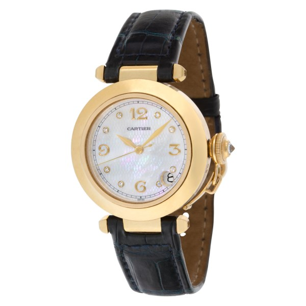Cartier Pasha 35 1035 18k 35mm auto watch
