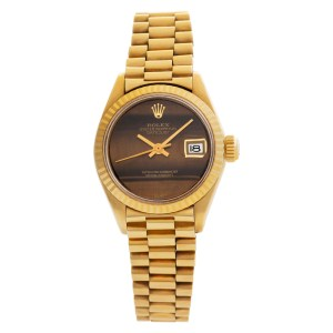 Rolex Datejust 6917 18k Tiger-Eye dial 26mm Automatic watch