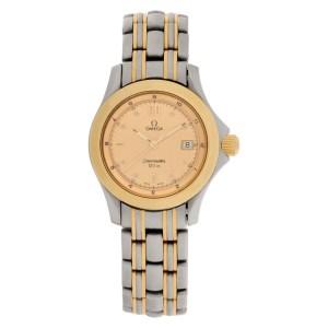 Omega Seamaster 23711000 18k & steel 28mm Quartz watch