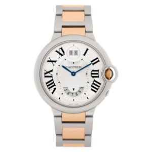Cartier Ballon Bleu W6920027 18k rose gold & stainless steel 38.5mm Quartz watch