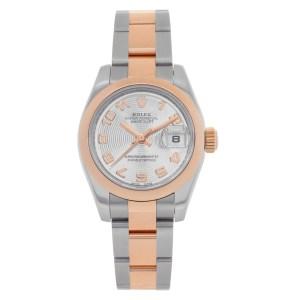 Rolex Datejust 179161 18k rose gold & stainless steel 26mm auto watch