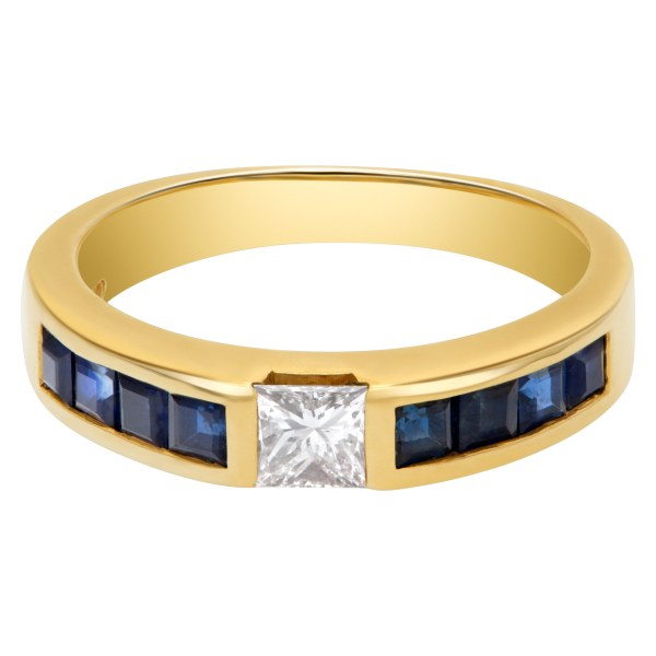 Tiffany & Co diamond and sapphire ring in 18k