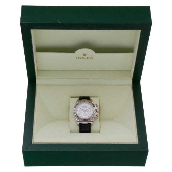 Rolex Daytona 116519 18k white gold 40mm auto watch