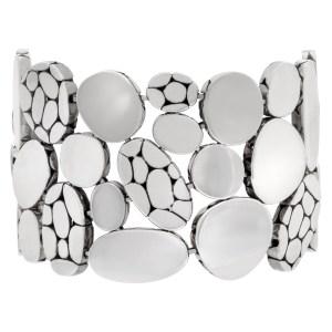 John Hardy wide sterling silver Kali Statement link bracelet