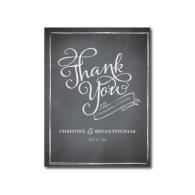 chalkboard_script_white_thank_you_card_postcard-239802987670149369