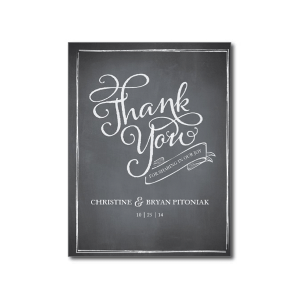 chalkboard_script_white_thank_you_card_postcard-239802987670149369