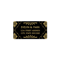 return_address_labels_art_deco_style-106073768106396373