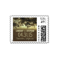 string_lights_country_rustic_wedding_postage_stamp-172590378455423618