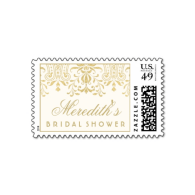 custom_bridal_shower_stamp_gold_vintage_glamour-172868872689171416