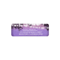 rustic_purple_address_label_with_string_lights-106312800393998635