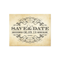 vintage_wedding_save_the_date_elegant_flourish_invitation-161257266437560296