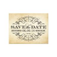 vintage_wedding_save_the_date_elegant_flourish_invitation-161257266437560296