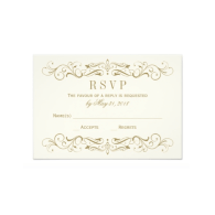 wedding_rsvp_postcard_antique_gold_flourish_invitation-161895887585106385