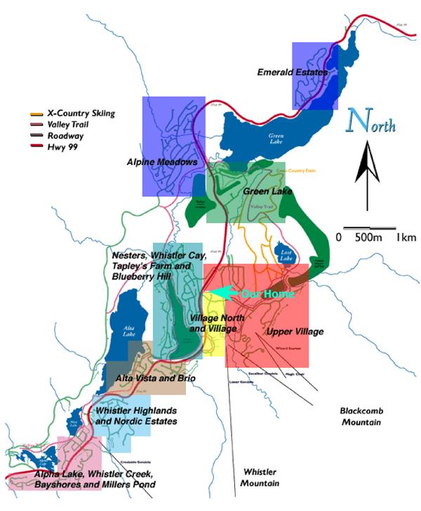 Montebello Whistler Neighbourhood Map