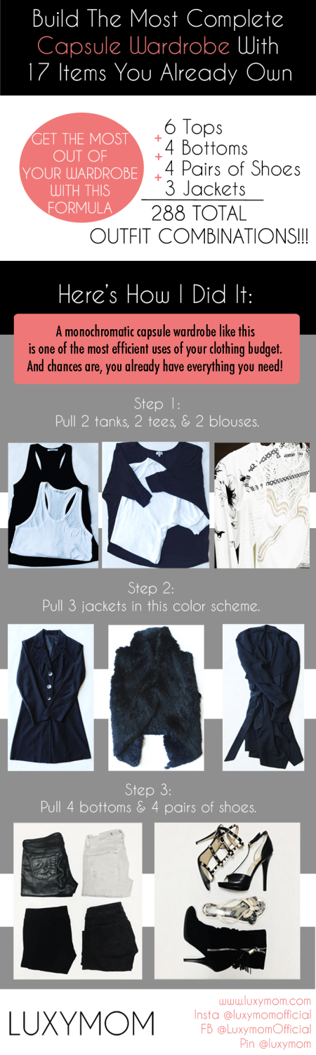 Build a Comprehensive Capsule Wardrobe Using 17 Pieces of Clothing You Already Own