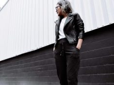 Lightweight Black Leather Jacket for Summer