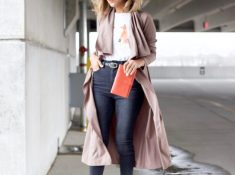 Pink Duster Jacket for Summer - Hannah Jeter Style