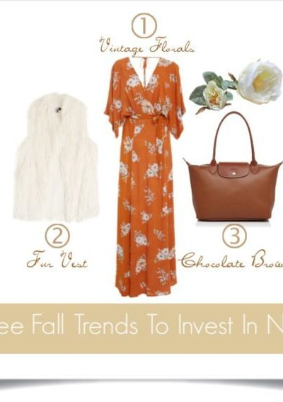 Three Fall Fashion Trends To Invest In Now