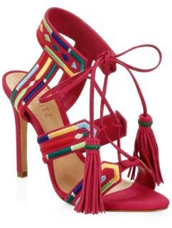 Schutz Eurica Shoes Red Sandals