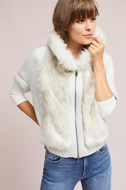 Fur Trimmed Sweater Anthropologie