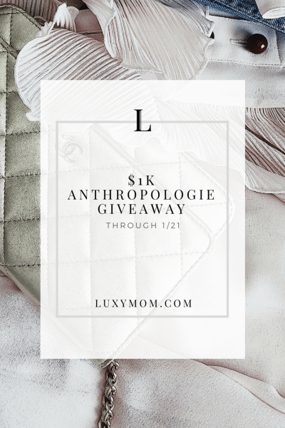 $1,000 Anthropologie Giveaway - LUXYMOM.com