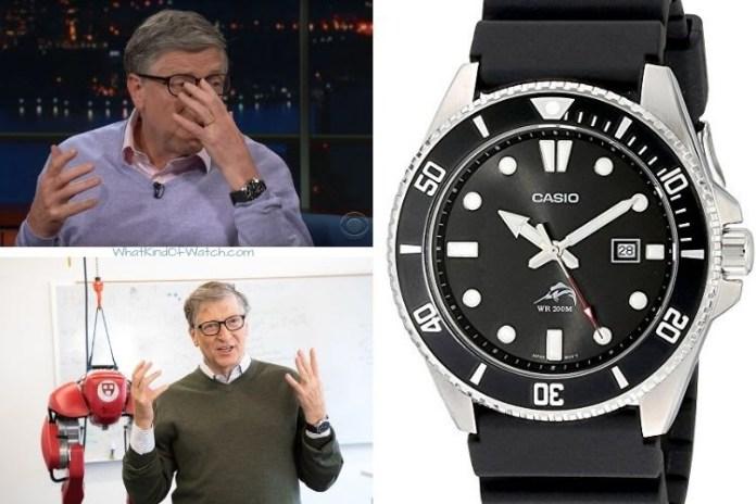 Bill Gates wearing a Casio Duro MDV106-1AV Diver watch