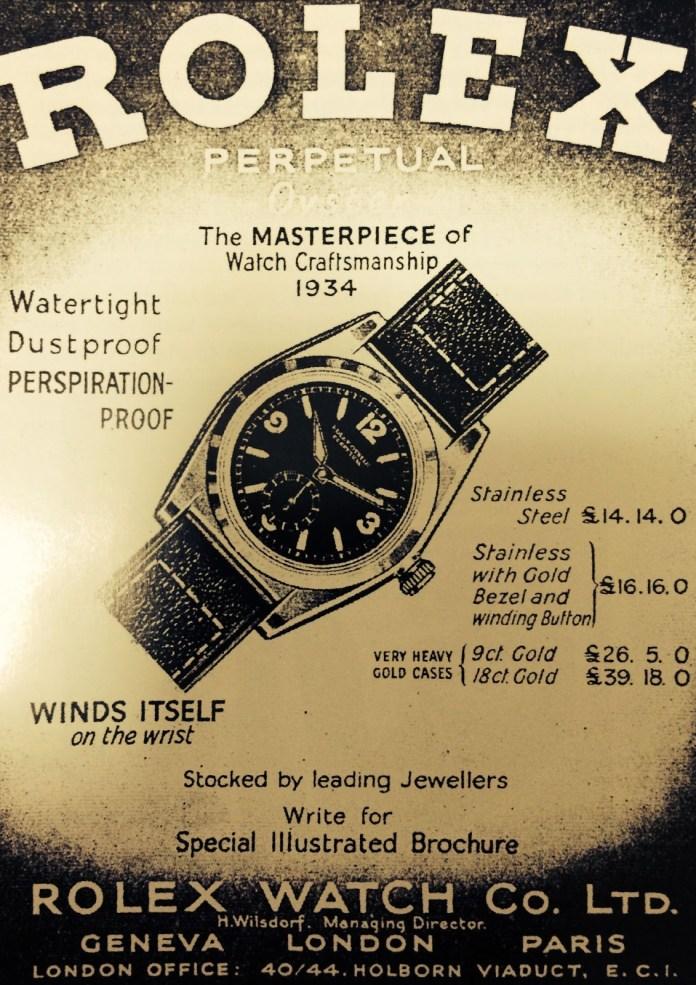 Rolex watches old advertisement