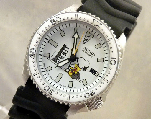 Seiko Snoopy Astronaut Watch Diver Automatic