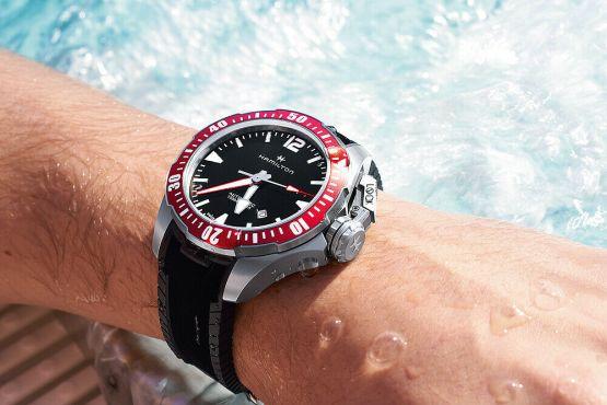 Hamilton Khaki Navy Automatic Black Dial Titanium Men's Watch - H77805335