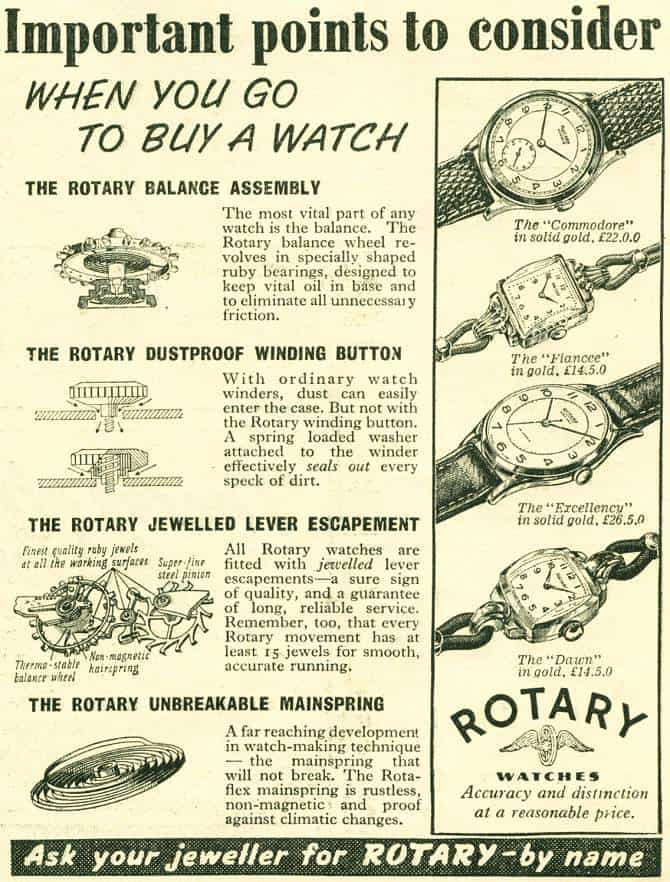 Rotary watches in Britain