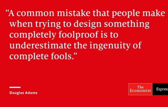 Can people design something foolproof? Designing something really foolproof is a great challenge for organizations that strive to become #lean indeed!