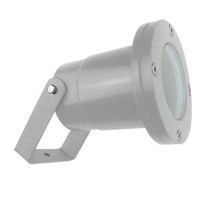 proyector exterior post gris