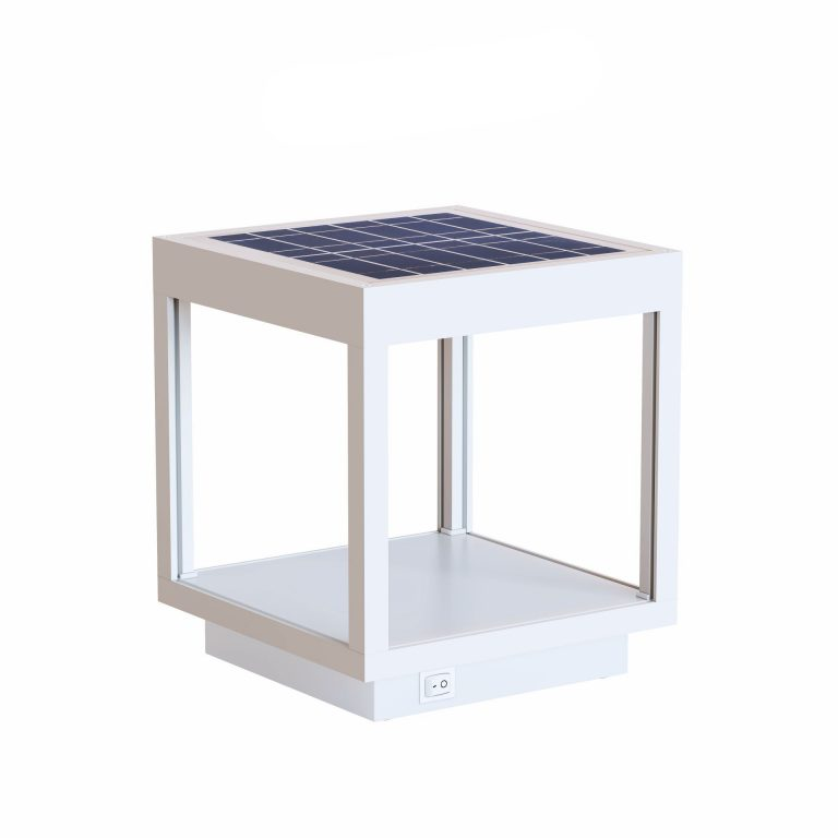 Lámpara solar visor blanco