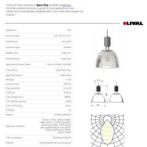 campana industrial 55w secur