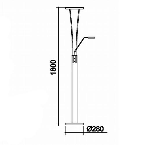 medidas lámpara de pie anello 35W