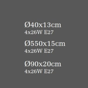 medidas plafón lissa blanco E27