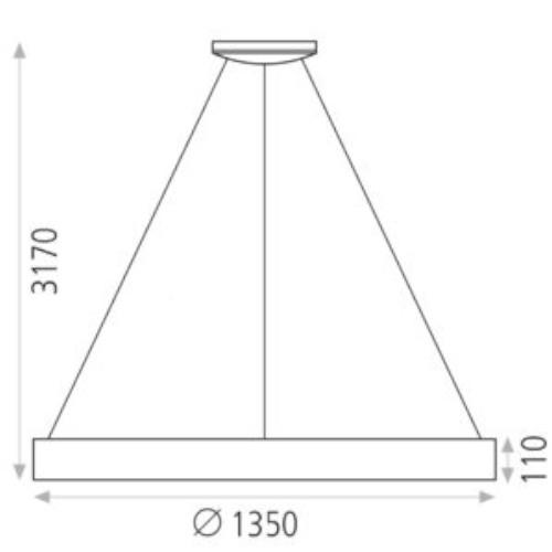 medidas Colgante Dilga 168w 135cm