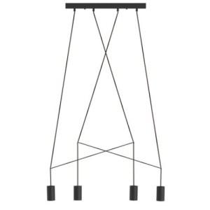 Lámpara techo Imbria 4L negro