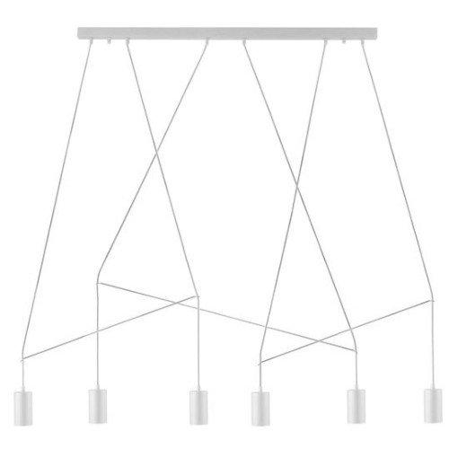 Lámpara techo Imbria 6L blanco