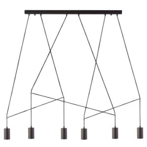 Lámpara techo Imbria 6L negro