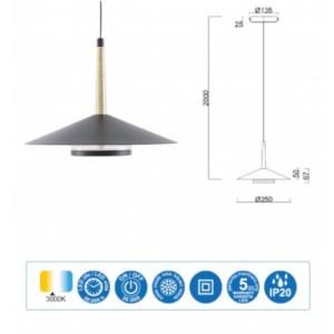 medidas Lámpara de techo Orion